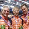 Goud voor Marcel, Hans en Cees bij NK Indoor!